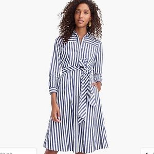 J CREW TIE WAIST SHIRT DRESS- 00
